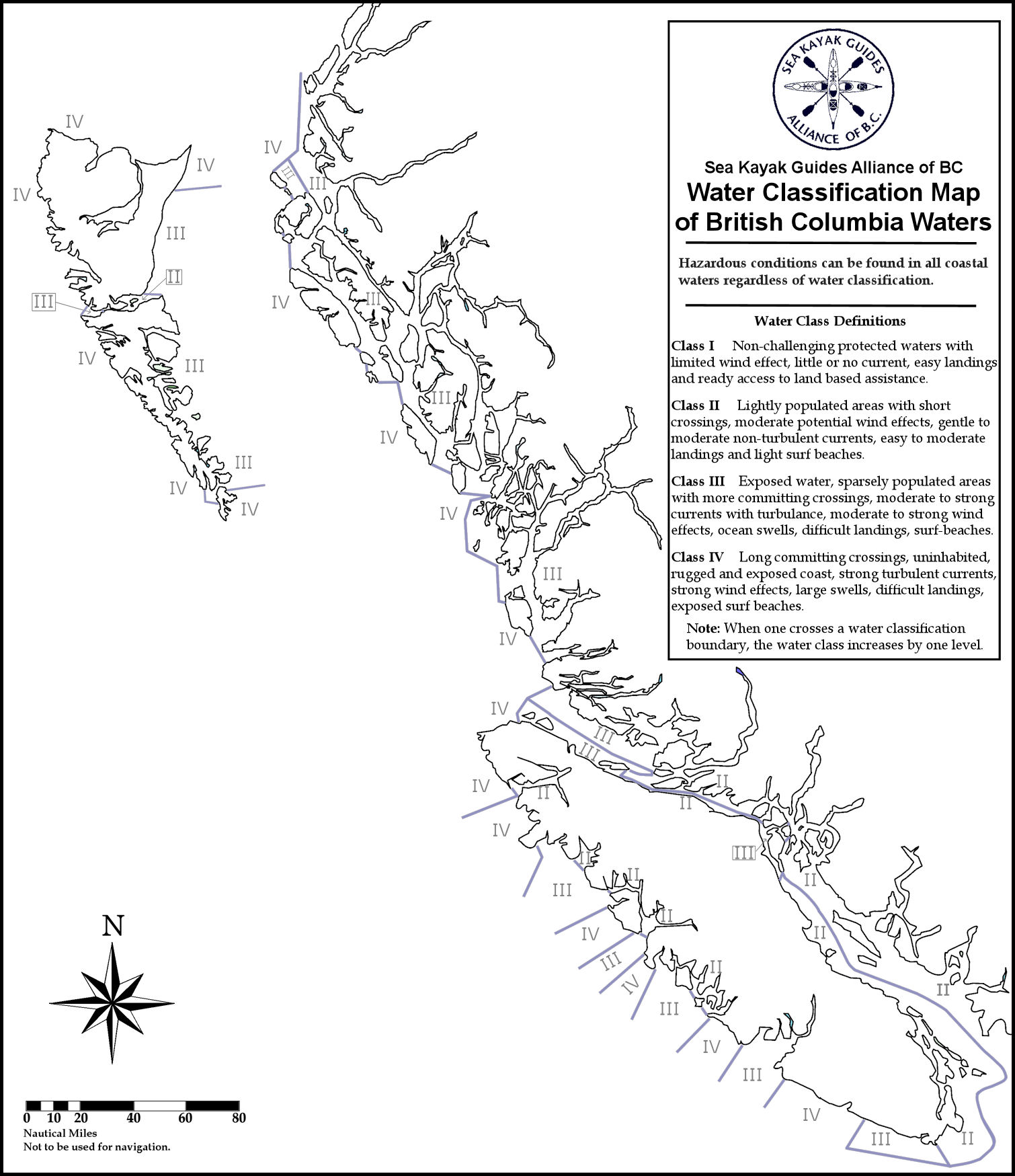 Water Classification Maps • Sea Kayak Guides Alliance of BC